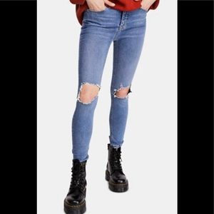 Free People Womens Size 28 High Rise Busted Skinny